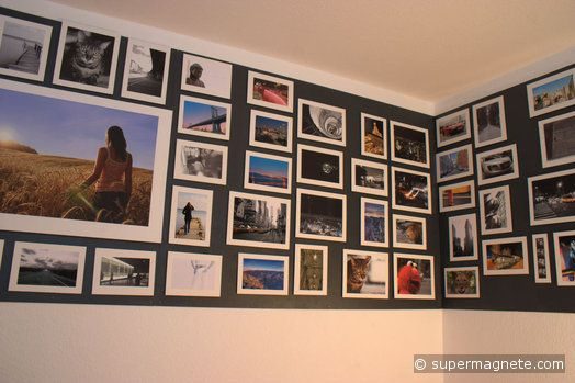 Strong magnets for walls with magnetic paint - supermagnete use for office display