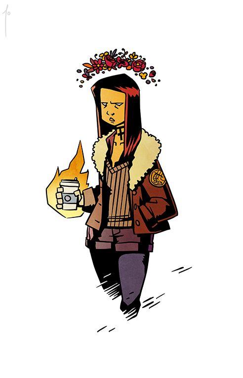 Hellboy Hipsters - 03 Liz Sherman by JoannaJohnen on DeviantArt