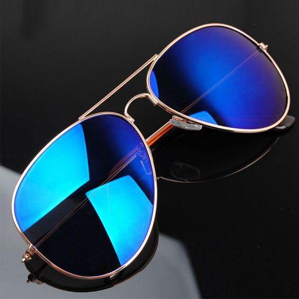 Gafas de sol Aviador Retro Metálicas Doradas de Moda Aviator 2013