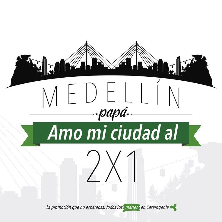 Y sí, sabemos que lo estabas esperando. El #Martes2x1 de hoy es para aquellos que amamos a Medellín y lo amamos por 2. ¡A ver los que aman esta ciudad pujante y hermosa!