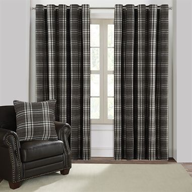 Turnberry Black Eyelet Curtains