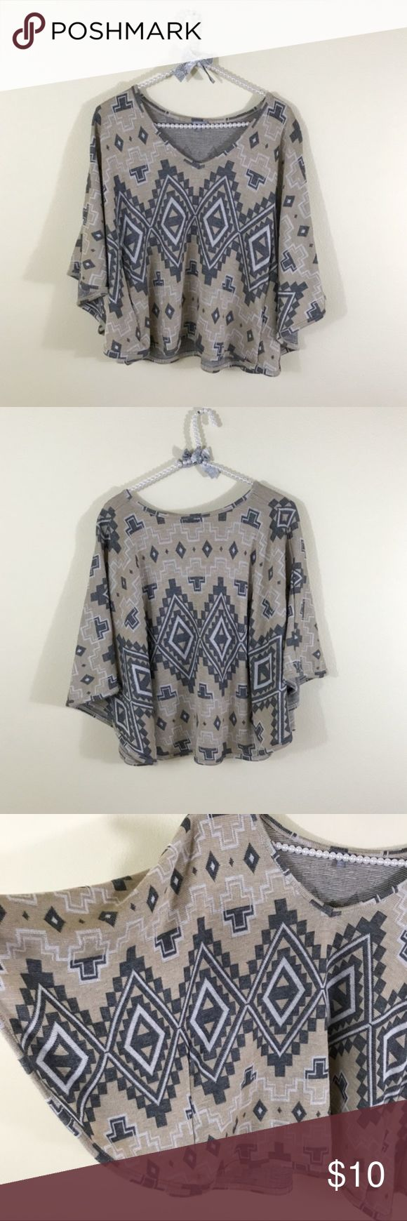 Charlotte Russe Aztec Tribal Batwing Top A couple small pulls. Price firm unless bundled. Charlotte Russe Tops