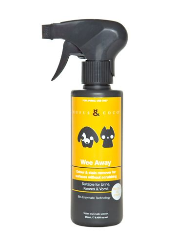 Rufus & Coco - Wee Away is an odour and stain remover for surfaces without scrubbing.2012 Winner of the Australian Business Award for Best New...