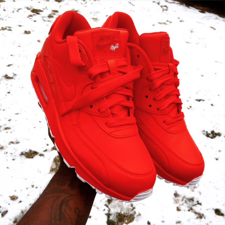 Candy Paint Nike Air Max 90 Hyperfuse Premium Customs in All Red, Blue, Green…