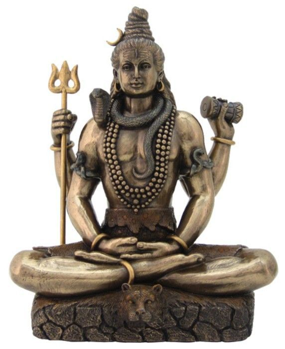 "Shiva, whose name means ""The Auspicious One"" in Sanskrit, is one of the most complex ancient gods in the Hindu pantheon. He is viewed as a supreme positive force because he destroys evil, ignorance, a"