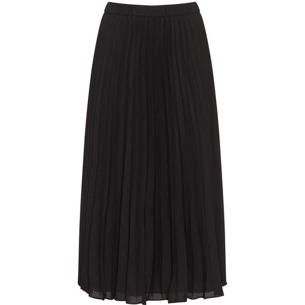 Baylis and May Black Plus Size Pleated maxi skirt (£104) ❤ liked on Polyvore featuring skirts, black, plus size, pleated skirt, plus size pleated maxi skirt, long skirts, maxi skirt and plus size long maxi skirts