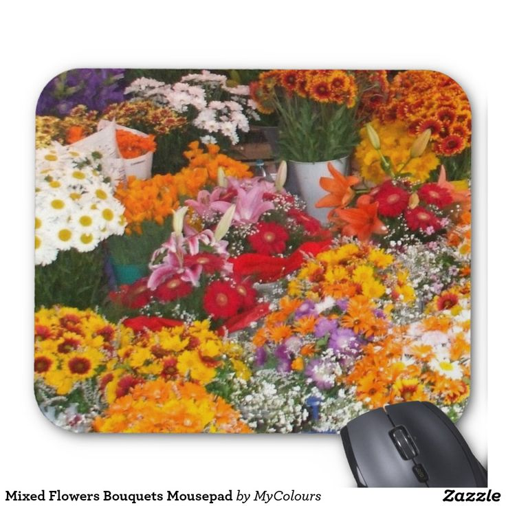 Mixed Flowers Bouquets Mousepad