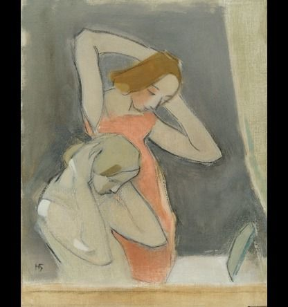 Before the Mirror, Helene Schjerfbeck