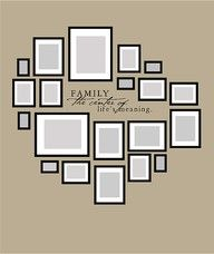 picture wall layout - perfect for the formal living room or hallway