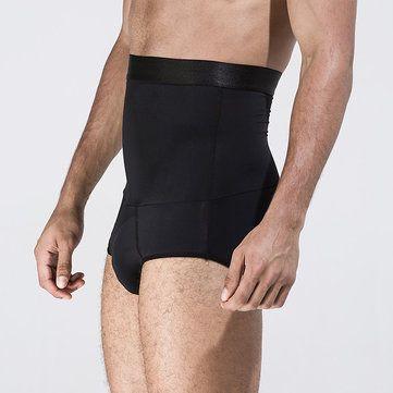 c487f112496 Sexy Nylon High Waist Underwear Body Shaper Tummy Tuck Brief Slimming  Underwear for Men. Fashion Men Plus Size Sexy Butt Lifting Slim Shapewear  Compression ...