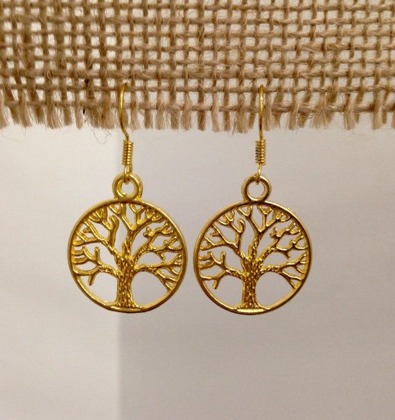 Gold Tree of Life Earrings by SCBoutique123 on Etsy