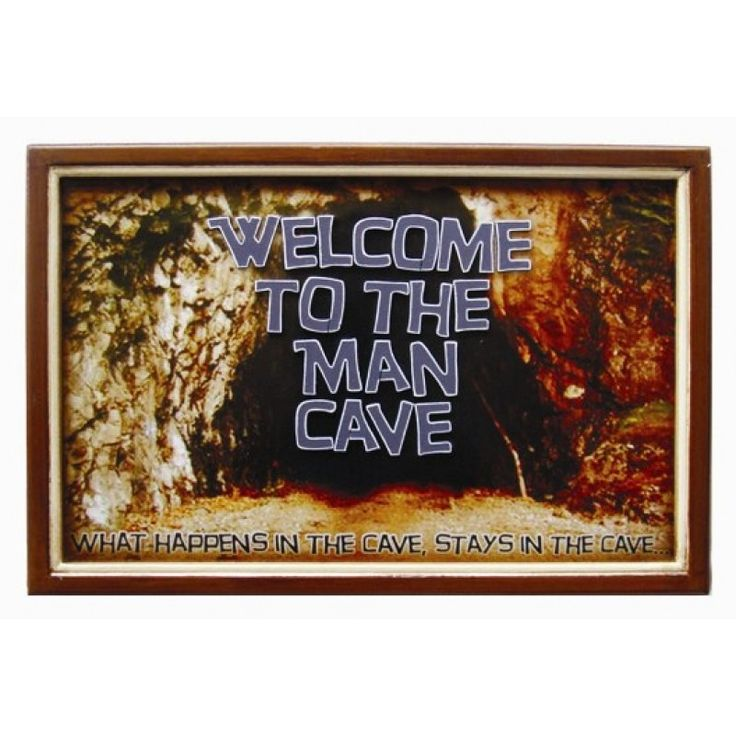 Welcome To The Man Cave https://www.studio9furniture.com/entertain/bar-decor/wall-decor/welcome-to-the-man-cave  Be at peace with this welcoming sign made from MDF material with hand painted finish.