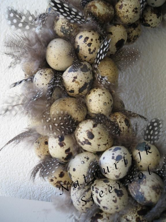 Easter Wreath-make it all natural (egg shells and feathers) and you can leave it up all spring :)