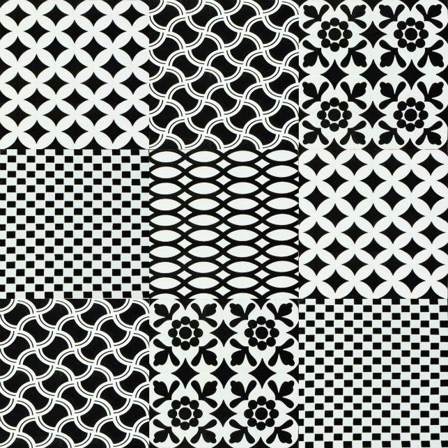 Noir Blanc 200x200mm