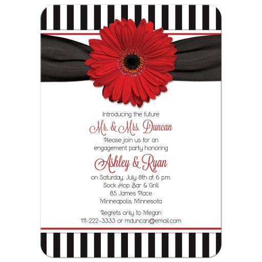 Hot Pink Gerbera Daisy White Wedding Invitation 5 X 7: 136 Best Images About Gerbera Daisy Wedding Theme On