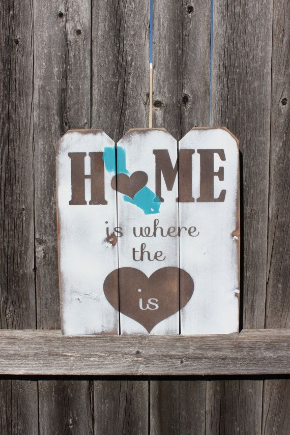 Good California Sign  Rustic  Home Decor  Home Sweet Home  Home Sign  Picket  Fence  California State Art  Farmhouse Sign  State Sign  State Art