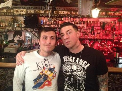 Zacky Vengeance and Frank Iero together<3