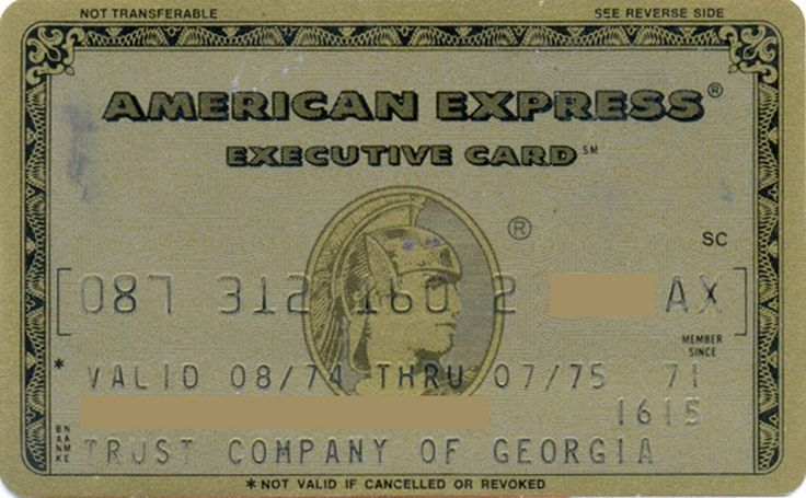 American Express Gold Executive Card (American Express, United States of America) Col:US-AE-0061