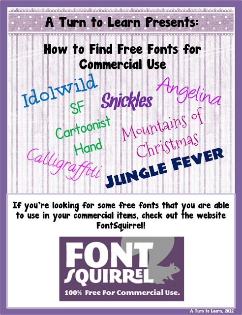 how to find FREE fonts that are licensed for commercial use!!!!