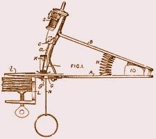The first Beckwith MKI sewing machine April 1871, simple and cheap but impossible to use.