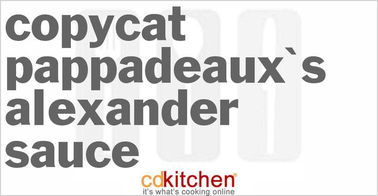 Pappadeaux's Alexander Sauce. Blackened #alexander #recipe #pappadeaux's