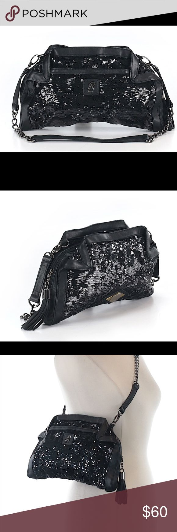Rachel Zoe black sequin cross body bag This item is like new with very minor signs of wear Rachel Zoe Bags Crossbody Bags