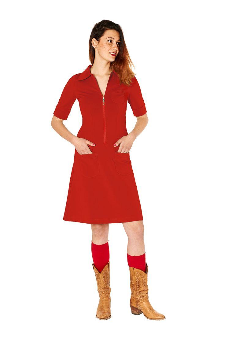 Tante Betsy dress: Zippie Red