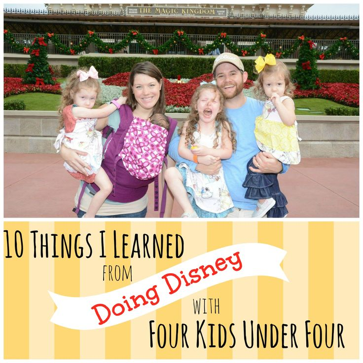Ten Things I Learned from Doing Disney with Four Kids Under Four :: We went to Disney World with three toddlers and one infant. Here's how we did it!