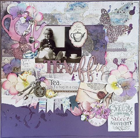 TEA-riific layout by Michelle Carrick using the Tea Time collection