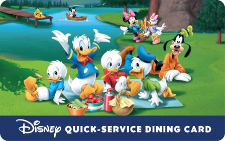 News: New Disney Quick-Service Dine Gift Card Available with select Walt Disney Travel Company Packages   Disney Travel Agents