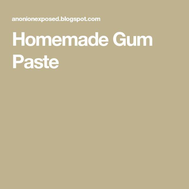 Homemade Gum Paste