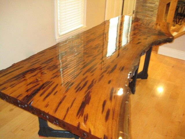 Pecky cypress table tops that can not only be used as a dining table
