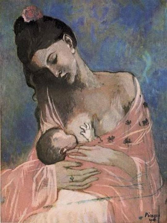 "Pablo Picasso (1881-1973) ""Motherhood/Maternità"" (1905), Oil on canvas"
