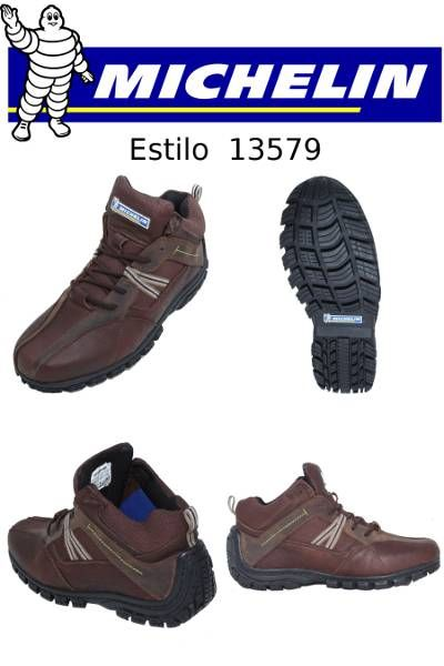 #Botas marca #Michelin en color #café para #hombre que le gusta vestir cómodo y utilizar #zapatos duraderos