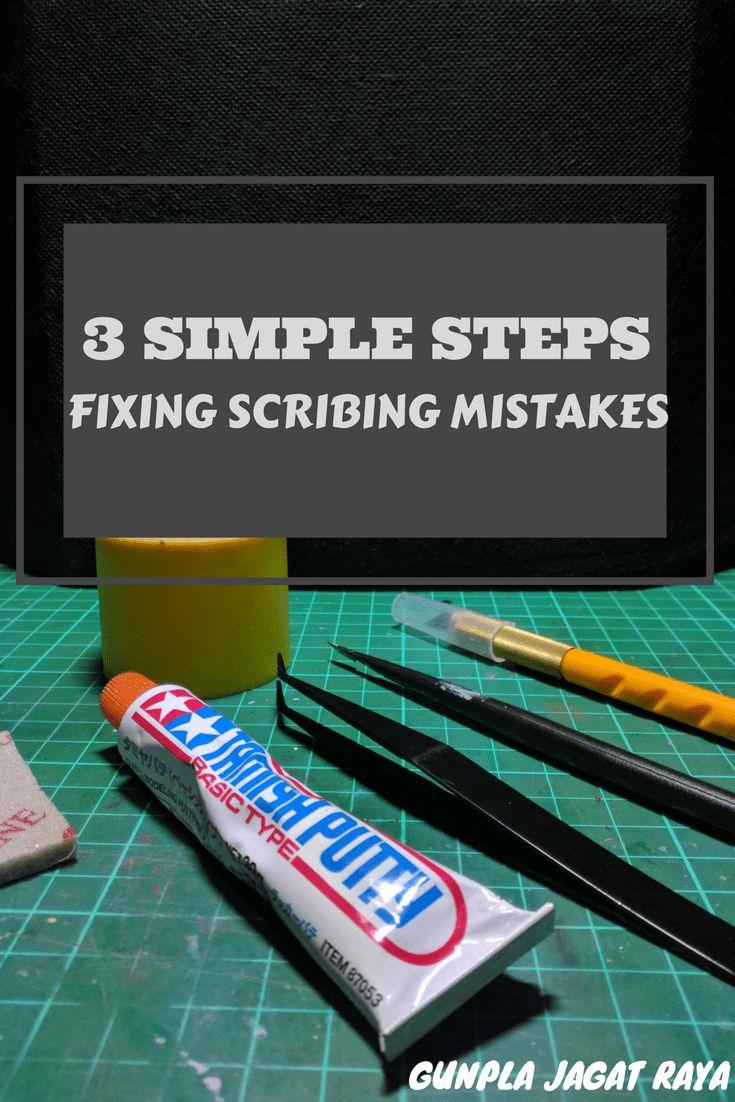 Gunpla tutorial. Gunpla techniques on fixing scribing mistakes.