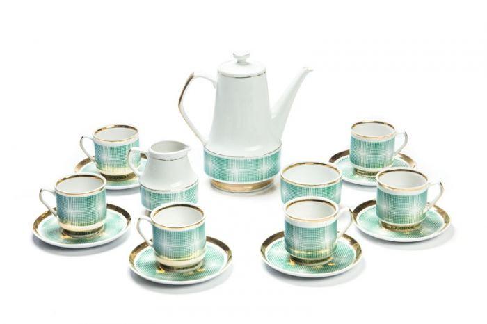 Zakłady Porcelany i Porcelitu w Chodzieży - Serwis do herbaty (dla 6 osób)