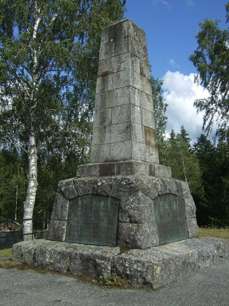 Oravainen: Oravaisten taistelun 14.9.1808 muistomerkki