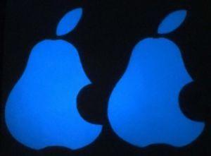 Birnen Aufkleber Apple leuchtet im Dunkeln phosphoreszierend 2x Aufkleber  | eBay