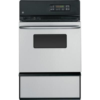 GE 24 in. Single Gas Wall Oven in Stainless Steel-JGRP20SENSS - The Home Depot