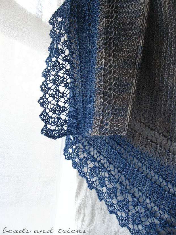 My own Costabella shawl, pattern on Raverly by Valentina Cosciani.  http://www.ravelry.com/patterns/library/costabella