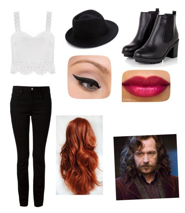 date with sirius black by daniellabramhall on Polyvore featuring T By Alexander Wang, Eugenia Kim, LORAC, Sirius and INDIE HAIR