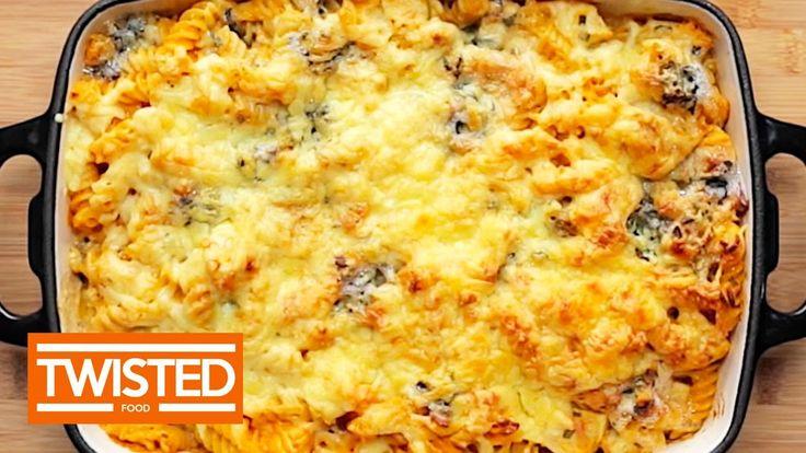 Buffalo Chicken Pasta Bake | Twisted Food