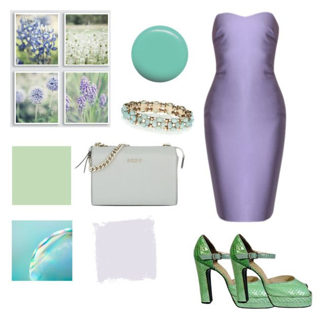 """""""purple and pastel green"""" by greensparkle1 ❤ liked on Polyvore featuring Accessorize, DKNY, Terry de Havilland and Jin Soon"""