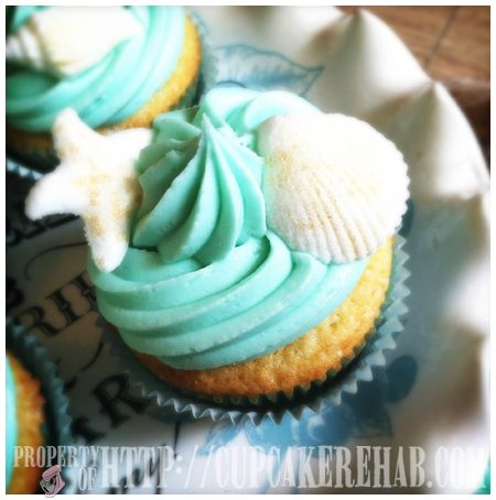 Cupcake Rehab - She Sells Seashells Cupcakes By The Seashore