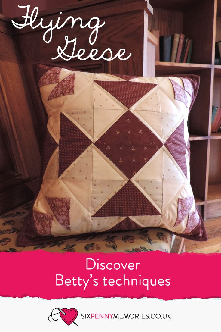 All flying geese blocks come together to make this beautiful cushion