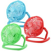 "Bulk Brightly-Colored Battery-Operated Mini Desk Fans, 4½"" at DollarTree.com"