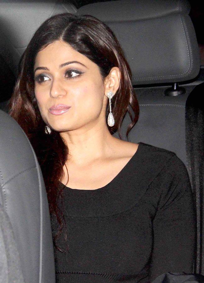 Shamita Shetty at Raj Kundra's birthday party.