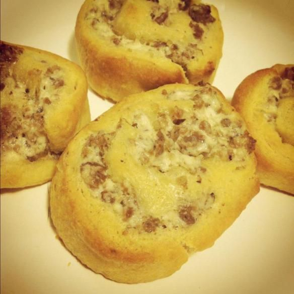Cream Cheese Sausage Pinwheels | Recipes | Pinterest