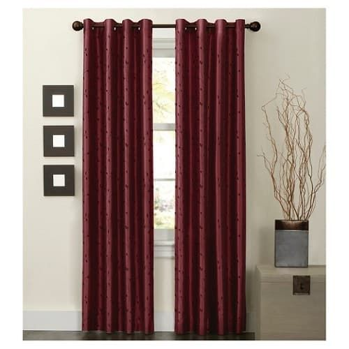 Burgundy Curtains For Living Room Part 36