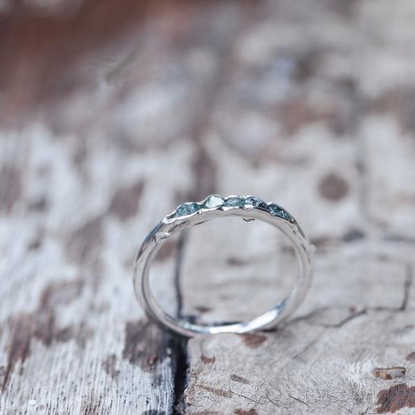 Raw blue diamond ring // Hidden Gems - Gardens of the Sun Jewelry